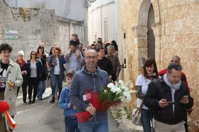 Morciano di Leuca, Lorenzo Ricchiuti appena eletto Sindaco (foto Antonio Pellico)