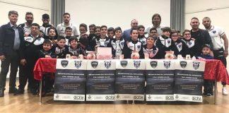 Una parte del settore giovanile del Cutrofiano Calcio