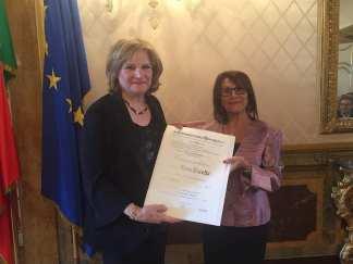 Elena Pacella Commendatore della Repubblica - la cerimonia