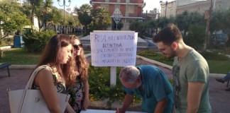 Raccolta firme a Presicce-Acquarica contro l'ingresso di rifiuti extraterritoriali nella discarica Burgesi