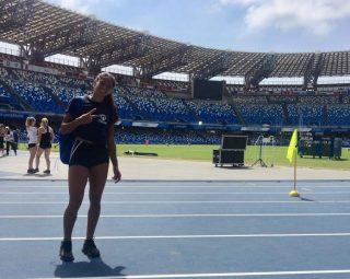 Francesca Lanciano allo stadio San Paolo di Napoli