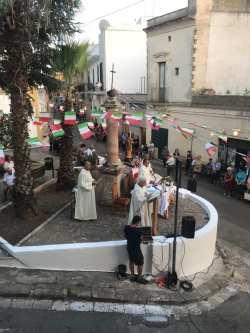 La celebrazione della messa dello scorso anno