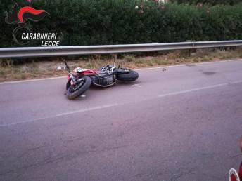 La moto coinvolta nell'incidente mortale sulla Santa Caterina - Sant'isidoro