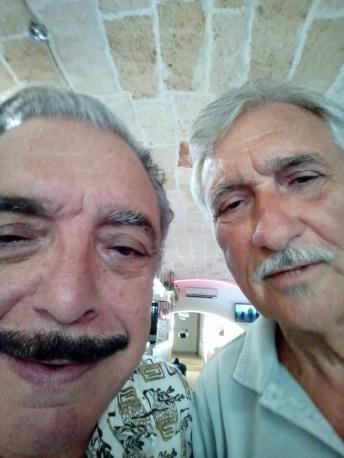 Paolo Fachechi e Nino Frassica sul set