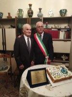 Il centenario con il sindaco Paolo Menozzi