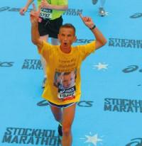 Franco Della Ducata alla maratona di Stoccolma
