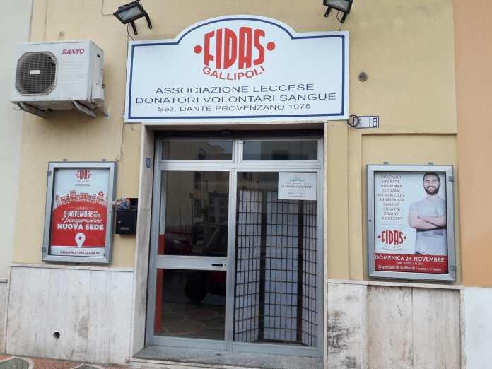 La nuova sede della Fidas Gallipoli
