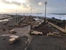Muro lungomare Torre San Giovanni distrutto dal maltempo 2