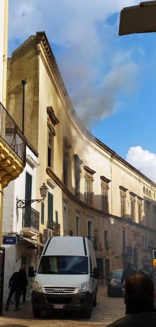 Incendio centro storico Gallipoli