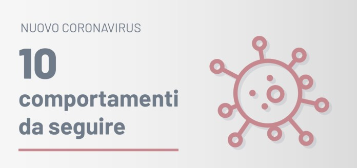 Comportamenti da seguire coronavirus regione Puglia