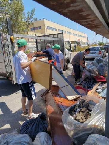 Matino, i rifiuti raccolti