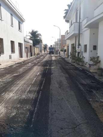 Lavori strade Ugento