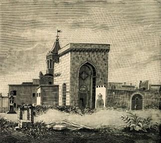 Il Santuario della Lizza ad Alezio, con il campanile
