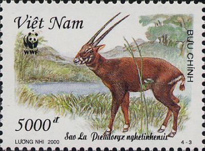 Saola, Vietnamese stamp
