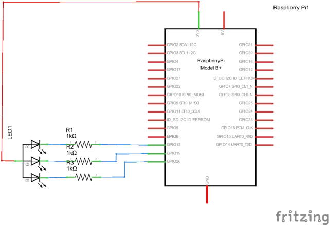 Pi and RGB Led schematic