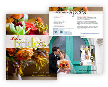 Magazine Media Kit Design: The Bride's Book