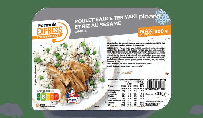 poulet sauce teryaki et riz au sésame