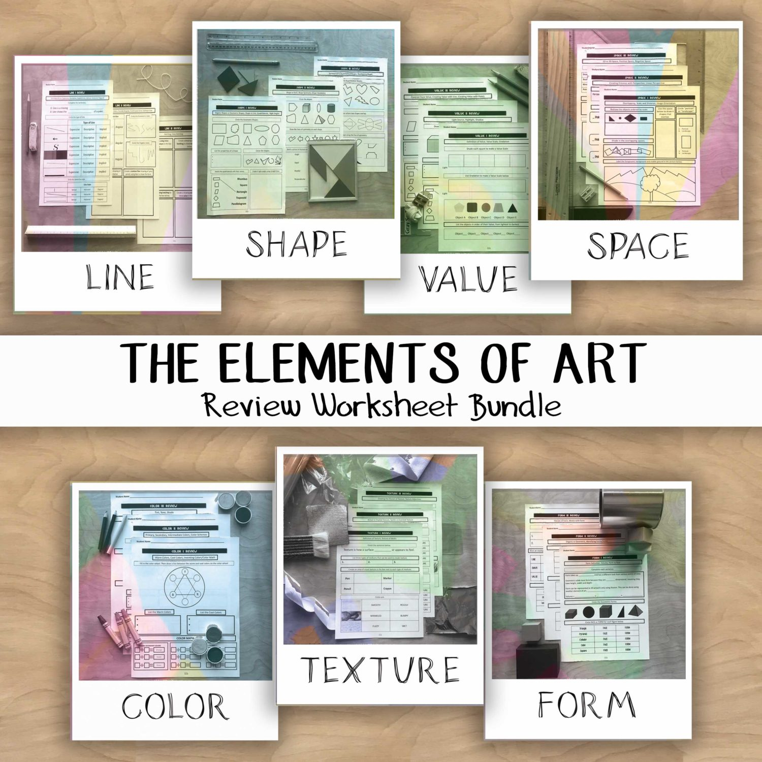 Elements Of Art Worksheet Review Packet