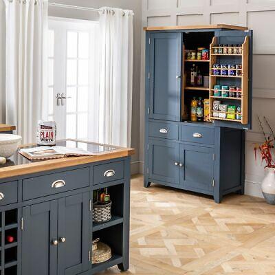 Westbury Blue Painted Large Kitchen Larder Pantry Cupboard Brand New Bp60 849 00 Picclick Uk