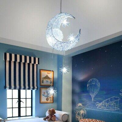Moon Stars Led Ceiling Light Chandelier Kids Bedroom Lighting Pendant Lamp Decor 11 99 Picclick Uk