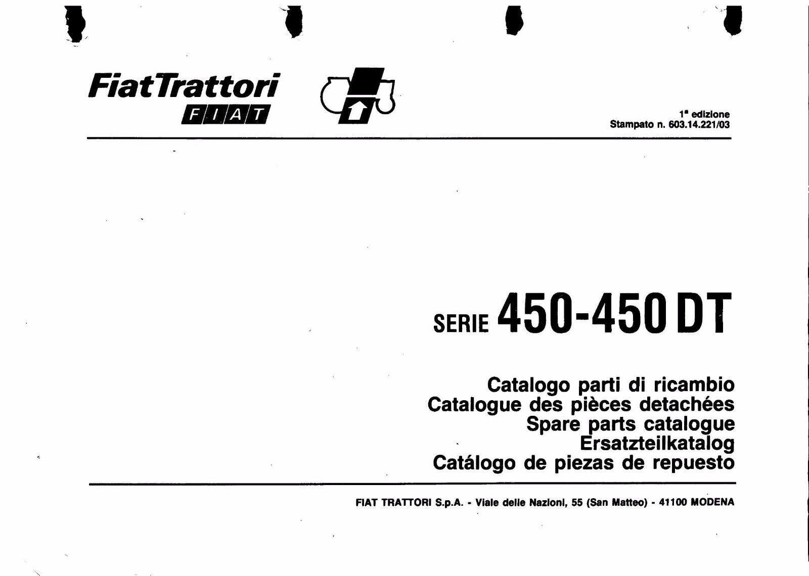 Fiat 450 450 Special 450 Dt Special Workshop Operator Parts Manuals Download