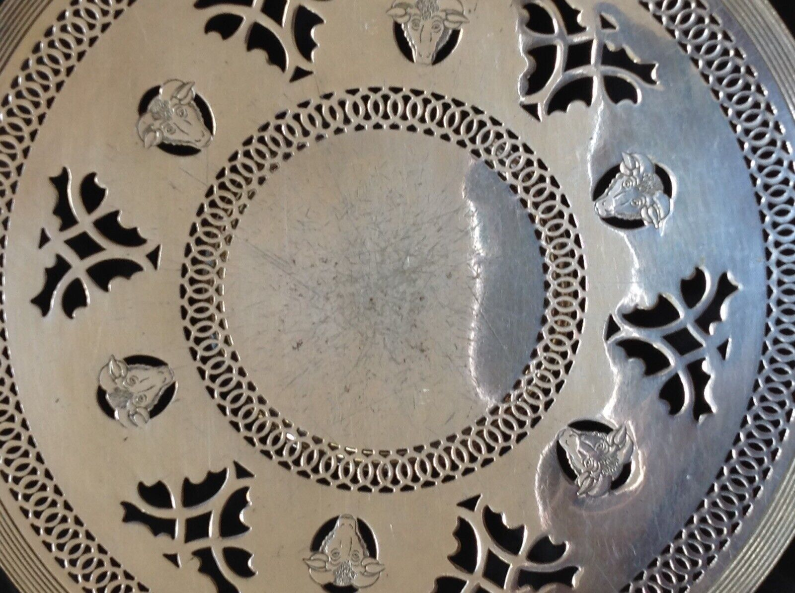 Vintage Silver Plated Epns Pierced Pedestal Cheese Plate
