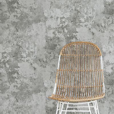 grandeco tempera beton industriel pierre effet vintage papier peint gris ep3003