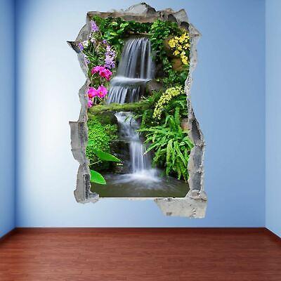 waterfall autumn forest 3d wall art