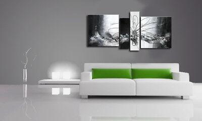 I quadri sono realizzati completamente a mano non sono stampati e sono. Quadri Moderni Astratti Fiore Bianco E Nero Grigio Arredo Casa Divano Eur 149 00 Picclick It