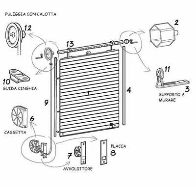 Kit completo per tutti i tipi di serranda dotato di accessori per manovra manuale o elettrica. Accessori Per Tapparelle Pvc Avvolgibili Ricambi Persiane Balconi Cintino Eur 1 40 Picclick It
