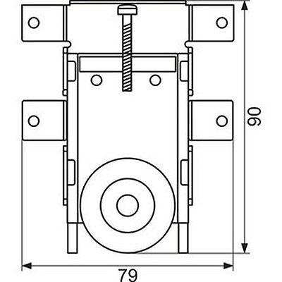 galet roulette reglable en hauteur porte de placard coulissant