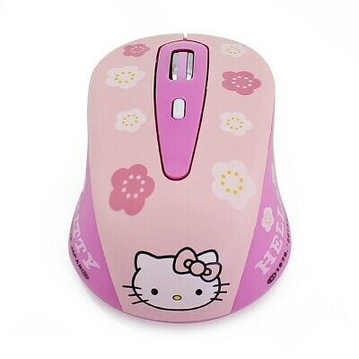 Wireless Hello Kitty Pink Gaming Computer Mouse Mini Gift 1600dpi Cute Pc Laptop 17 91 Picclick