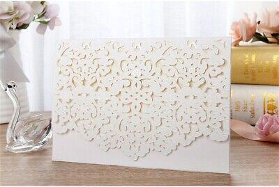 White Laser Cut Printing Personalized Wedding Invitation