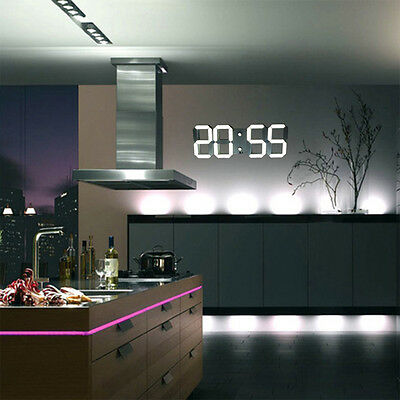 Prova a leggere tra le righe! Large Modern Design Digital Led Wall Clock Watches 24 Or 12 Hour Display On Sale 67 77 Picclick