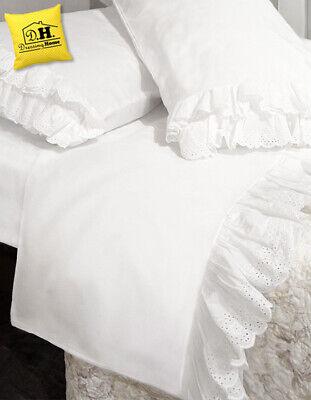 Anche la biancheria da letto merita la stessa attenzione che dedichiamo all'arredamento della casa perchè è in grado di dare quello in più di stile per. Completo Letto Matrimoniale Con Pizzo Sangallo Shabby Chic Colore Bianco Eur 125 29 Picclick Fr