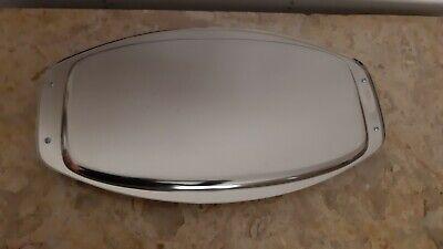 plat de service ovale en inox ou metal