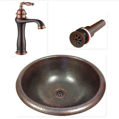 round mexican pure copper drop in or