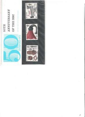 1972 Royal Mail Presentation Pack Bbc & Broadcasting History Staff Pack