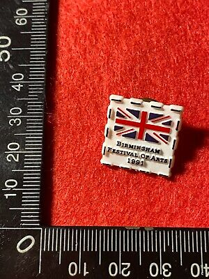 Collectable Pin Back Badge - Birmingham Festival Of Arts 1991 (Bb37)