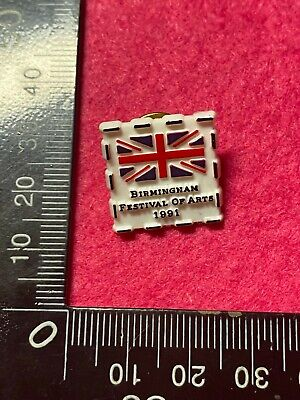 Collectable Pin Back Badge - Birmingham Festival Of Arts 1991   (Bb239)