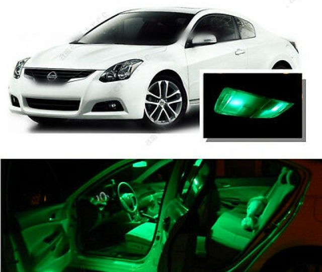 For Nissan Altima Coupe 08 13 Green Led Interior Kit Green License Light Led