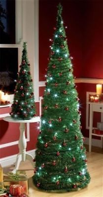 6ft pre lit john lewis artificial pop up green christmas tree in - Pop Up Pre Lit And Decorated Led Christmas Tree