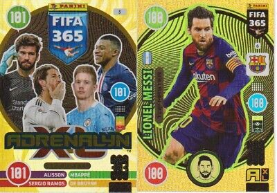 Panini Adrenalyn XL FIFA 365 2021 Rare, Gold, Fans, Star, Power Cards aussuchen!