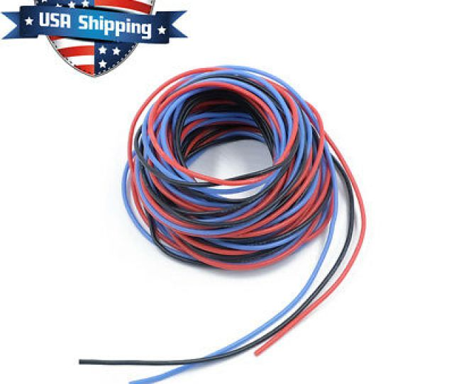 Gauge 45ft Soft Flexible Silicone Wire Servo Wire Black Red Blue