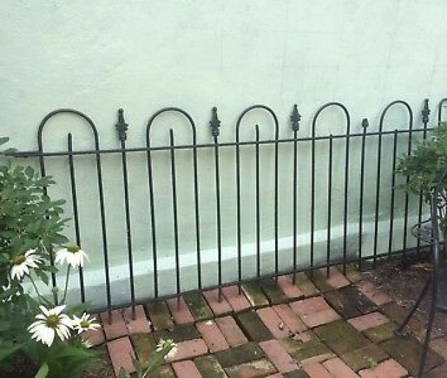 Antique Wrought Iron Fence Historical Capitol Hill Railing Two