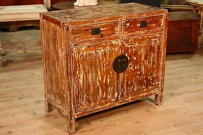 buffet enfilade commode chinoise portes tiroirs meuble bois style ancien vintage