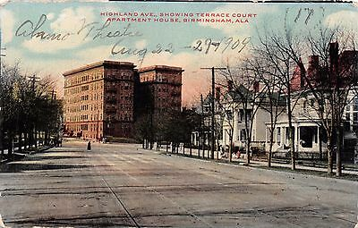 Birmingham Alabama Highland Ave ~ Terrace Court Apartment Maison Postale 1909