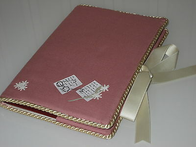 Address book / telephone register / address register with book cover, scrapbooking