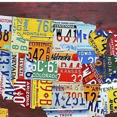 HD Decor Images » USA MAP DETAILED License Plate Style Metal Sign Automotive Travel     USA Map Detailed License Plate Style Metal Sign Automotive Travel Decor 16  x 12