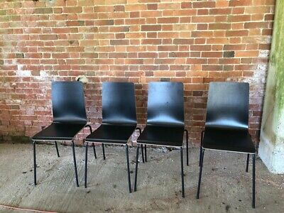 Ikea Black Dining Chairs X 4 Martin Nearly New 21 26 Picclick Uk